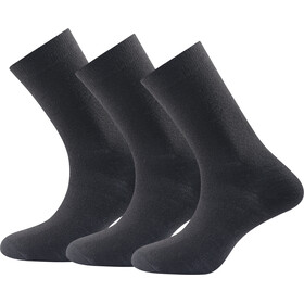 Devold Daily Medium Socks 3 Pack Black